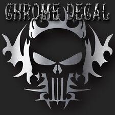 """Punisher Silver Chrome Vinyl Die Cut Decal Sticker Car Truck 6"""""""