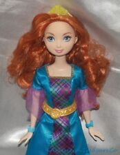 Retired Disney Classic Princess Merida Brave Fashion Doll Aqua Plaid Gown Outfit