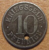 Germany Notgeld (Token) Heidelberg 10 pfennig 1918