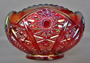 B466 Indiana HEIRLOOM #2279 Red Contemporary Carnival Glass Bowl