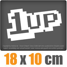 1 Up 18 x 10 cm JDM Decal Sticker Aufkleber Racing Weiß, Scheibenaufkleber