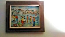 """claude st rome-painting-oil on canvas-12"""" x 16"""" in frame-signed"""