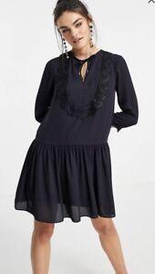 Ted Baker KOURT Drop waist lace bib dress RRP £169 Size 3 UK 12
