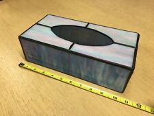 Vintage Stained Glass Crafted Facial Tissue Box Cover