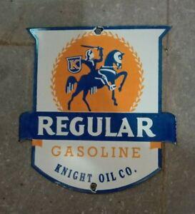 """Porcelain Regular Gasoline Enamel Sign Size 8"""" X 7.5"""" Inches"""