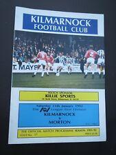 Kilmarnock  V Morton  1991/2