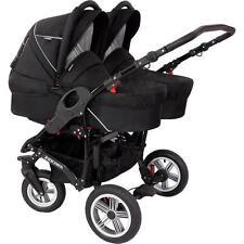 Zekiwa Sport Duo Black Zwillingswagen Zweisitzer Seat Kinderwagen