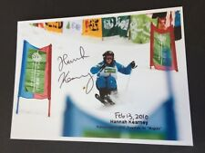 Hannah Kearney medalla 2010 ski freestyle signed foto 10 x 14