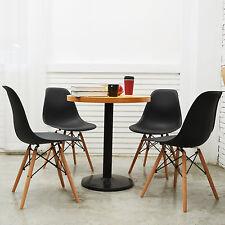 Schwarz Wohnzimmerstuhl Esszimmerstuhl Bürostuhl 4 x Designer Kunststoff DSWDAW