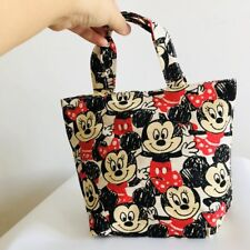 Mickey minnie anime handbag zip lunch box bag storage gift recycle bag