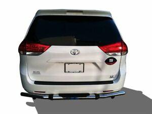 APU Fits 04-21 Toyota Sienna Rear Bumper Guard Stainless Steel Single Tube W/PAD