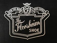 "Florsheim Shoes Rugs LARGE Door Mats ""For the Man Who Cares"" Carpets ONLY ONE!"