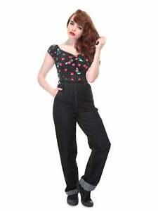 Collectif Mainline Siobhan Plain Jeans Black