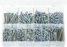Assorted Box of Machine Screws with Nuts BA Zinc Round Head -Slotted- 1025pc AB3