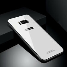 For Samsung S9 S8 Plus Luxury Hybrid Glass Back Cover Bumper Mirror Case+Screen