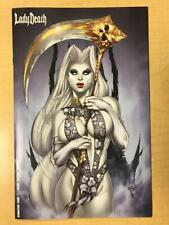 LADY DEATH Damnation Game #1 WHITE CHASE Variant Cover by Jesse Wichmann