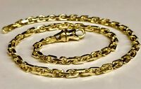 """14kt Solid Yellow Gold Handmade Link Men's Chain/Necklace 22"""" 42 grams 4.5MM"""