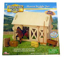 Applegate Farmen - Holz Pferdestall Set - inklusive Zubehör - 4 (BT229)