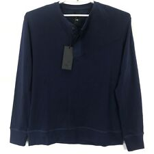 Under Armour Shirt Men's Large Navy Blue Detailed Long Sleeves 3 Button Closure