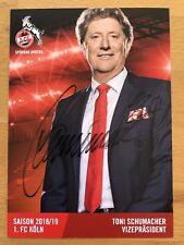 Toni Schumacher AK 1. FC Köln Autogrammkarte 2018/19 original signiert