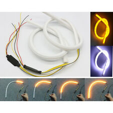 2x 45cm LED Switchback DRL Strip Light Sequential Daytime Running Turn Signal UK