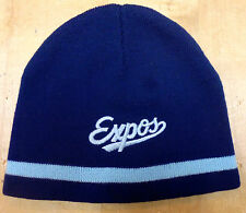 Vintage MONTREAL EXPOS baseball WINTER KNIT HAT / toque tuque beanie MLB