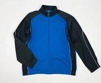 Nike felpa tuta usato XXL uomo blu grigio giacca jacket sport tuta vintage T5693