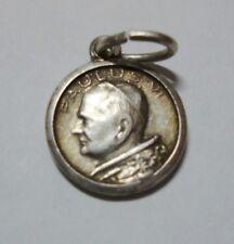 Pope Paul & St Peters Rome Small Vintage Catholic Medal
