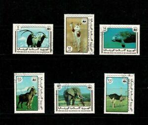 U0522 MAURITANIA 1978 Endangered animals - WWF  used