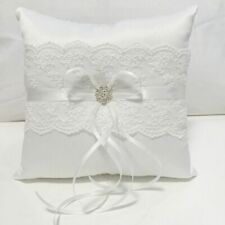 18x18cm White Lace Wedding Ring Pillow Bridal Cushions Wedding Marriage Decor