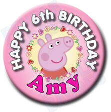 NOVELTY BIRTHDAY BADGE - 58mm -  any name and age