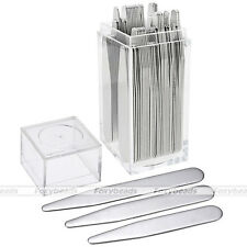 36pc Collar Stays Stiffeners Metal Bone for Men's Shirt 3 Sizes in Plastic Box