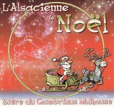 GM 10X9 L/'Alsacienne de Noel bleu Etiquette de bière