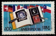 Chile 1986 Scott # 721 Ameripex 86 Flags - used VF