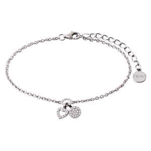 Xenox Damen-Armband Happy Hour XS2930 Anhänger Zirkonia Sterling Silber Herz