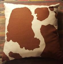 Brown Southwestern Cattle Print Throw Pillows