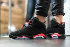 2014 Nike Air Jordan 6 Retro BRED Black Infra-Red 8UK 9US 42.5EU - 384664 023