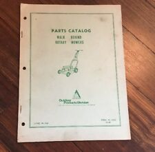 Allis Chalmers Walk Behind Rotary Mower Original Dealers Parts Catalog, 1969