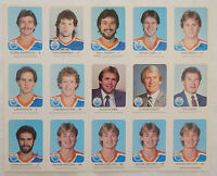 1982 Edmonton Oilers Red Rooster 2 Full Uncut Sheets 30 Card Set FUHR rc GRETZKY