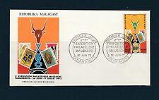 Madagascar  enveloppe   2è exposition philatélique   1972
