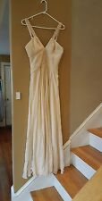 BCBG Max Azria silk maxi dress, sz.4, sequin trim,  3 D
