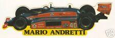 Mario Andretti Indy Car Sticker