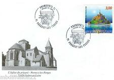 1998-FDC 1°JOUR - MONT ST. MICHEL-EGLISE-PERRECY LES FORGES - TIMBRE Yt.3165