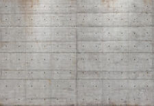 Fototapete CONCRETE 368x254 Stone Wall Beton Stonewall grau Betonwand Betonmauer