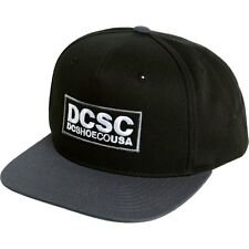 DC Shoes Robson Snapback Black Starter Adjustable Flat Bill Hat Ball Cap New NWT