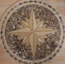 "32"" Floor Marble Medallion Mosaic Tile 32"" ES AWSOME #28"