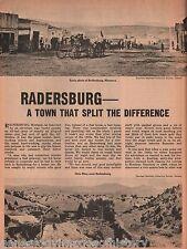Radersburg, Montana-GhostTown+Blackner,Clark,Dillon,Keating,Dougherty,Gilman,Poe