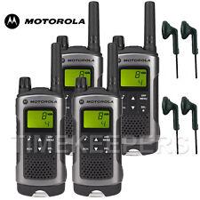 10 KM Motorola TLKR T80 Walkie Talkie Sicurezza a Due Vie Radio Tempo Libero + 4 Auricolari