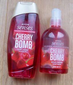 AVON Cherry Bomb Shower Gel 250ml & Hand Wash 250ml.  NEW Smells amazing (E)