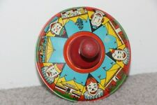 Vintage Litho Toy Top with Clowns